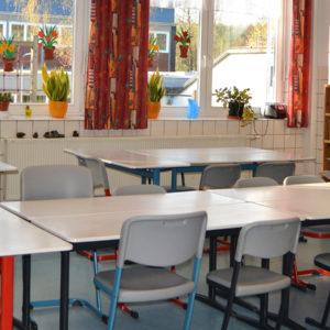 Dünsbergschule Schulbetreuun - Foto eines Klassenraums und Aufenthaltsraum